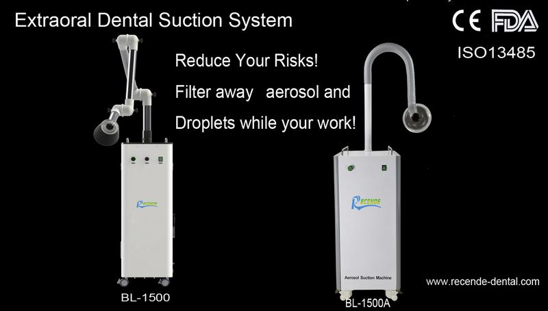 BL-1500 Extra Oral Dental Suction System  Reduce Your Risks!  Filter away aerosol and droplets while your work!